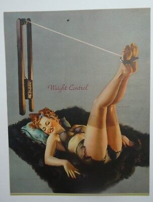 WEIGHT CONTROL Pin up original from the 50 ' s Litho U.S. by Elvgren