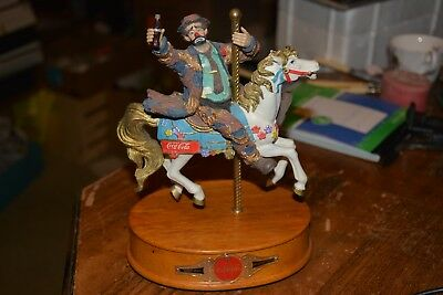 Coca Cola Emmett Kelly Carousel Horse Musical Limited Edition 912/9500