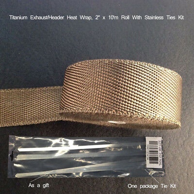 Gold Foil Heat Insulating Tape Hose Wrap Reflective Shield Adhesive 50mm X 15m