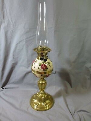 Superb Antique Victorian Messengers Duplex Oil Lamp  With Chimney