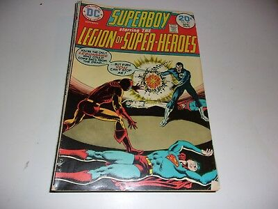 Superboy and Legion of Super-Heroes # 201--reintroducing Wildfire--1974--Fine