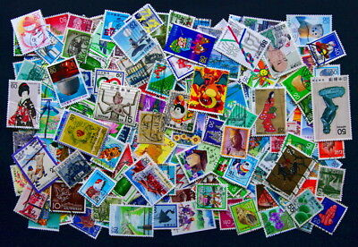 Japan. Large collection of 200 different stamps. Many commemoratives. Fine used