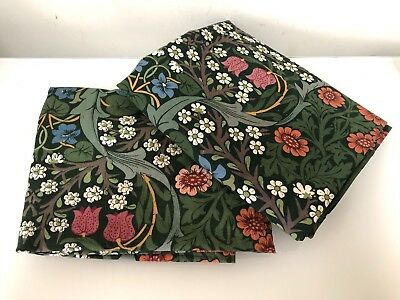 William Morris Curtain Fabric Blackthorn 3.2 METRES VTG Sanderson Rare Misprint