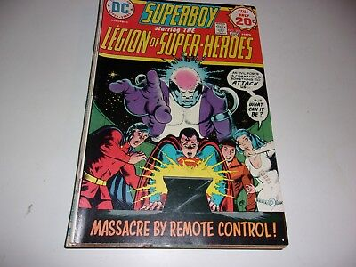 Superboy and Legion of Super-Heroes # 203--Death of Invisible Kid--1974--Fine