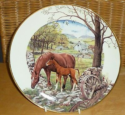 Hamilton Collection 1St Day Of Spring A Country Season Of Horses Plate John Vass