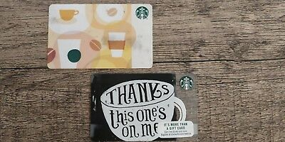 Starbucks Gift Cards x 2 (Total for both cards $11.10) 10 & 1.10