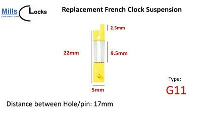 Brass French Clock Pendulum Suspension Spring. (25.5mm x 9.5mm x 5.5mm)  (G11)