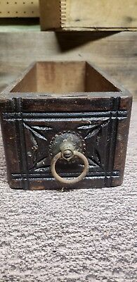 Vintage Sewing Machine Drawer-Carved Front