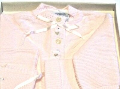 Vintage NOS Infant's Pink Knitwear Set In Box~Style 5/6577