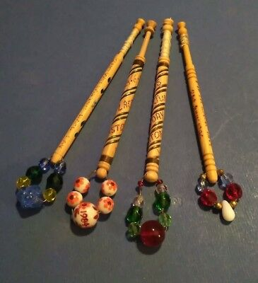 Wooden Lace Bobbins. 2nd,3rd,4th & 5th Wollaston Lace Day. Spangles.