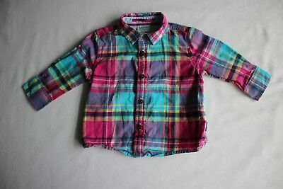 c26b20a3b7175 Baker by Ted Baker Baby Boy Girl 3-6 Month Cotton Multicoloured Checked  Shirt