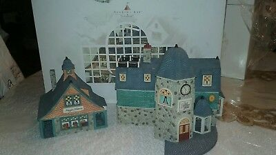 "Department 56 Season Bay First Edition, Set of 2 ""Bay Street Shops"""