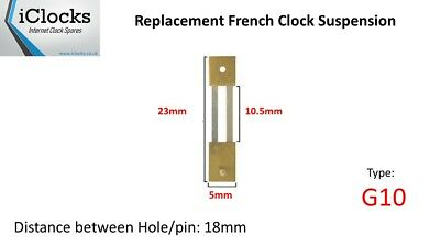 Brass French Clock Pendulum Suspension Spring. (23mm x 10.5mm x 5mm)  (Type G10)