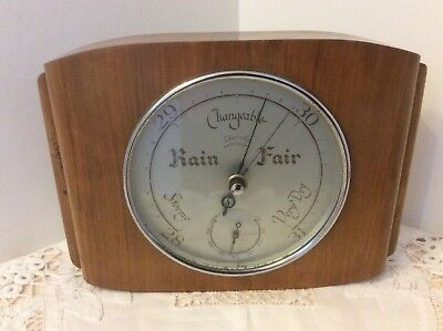 Vintage Art Deco Smiths Barotherm Wall Mounted Barometer / Thermometer