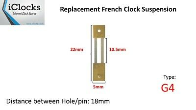 Brass French Clock Pendulum Suspension Spring. (22mm x 10.5mm x 5mm)  (Type G4)