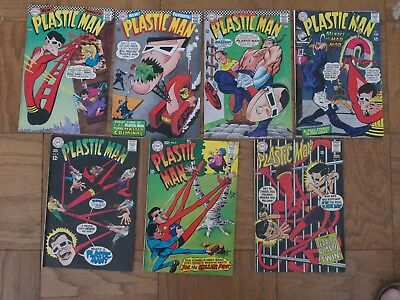 DC PLASTIC MAN SILVER AGE 7 BOOK BOX LOT #'s 3, 4, 5, 6, 8, 9, 10 1967-68 VF NR