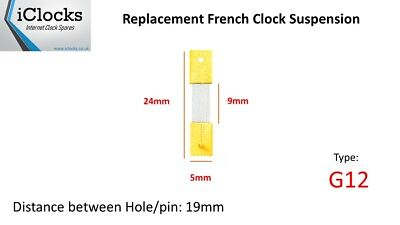 Brass French Clock Pendulum Suspension Spring. (24mm x 9mm x 5mm)  (Type G12)