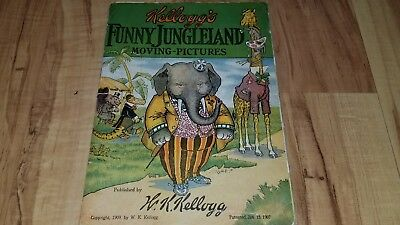 1909 Kellogg's Funny Jungleland Moving Pictures Booklet Corn Flakes Cereal Ad