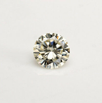 Loose Moissanite 5.05 mm 0.41 ct Fancy Yellow Round Brilliant Cut For Ring