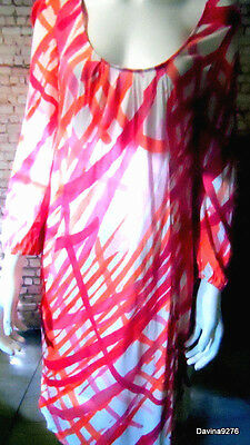 bright pink red orange slouchy geometric shift tunic dress sophie gray 16