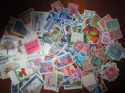 Mixed stamp lot from Germany, Great Britain, Australia, New Zealand and Austria