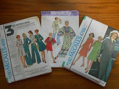 Lot of 3 Vintage Misses Sewing Patterns Size 18 Bust 40 UNCUT