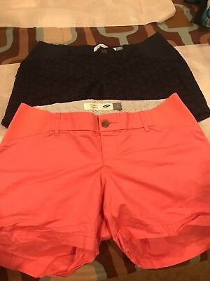 Maternity Denim Shorts Lot Of Two Old Navy Size 4
