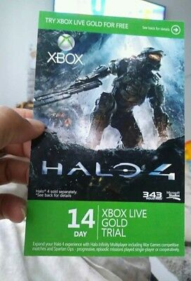 XBOX LIVE 14 day GOLD  TRIAL Membership CODE INSTANT DISPATCH