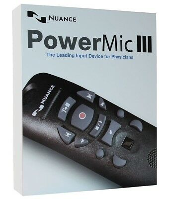 Dictaphone PowerMic III NUANCE Dragon Naturally Speaking microphone