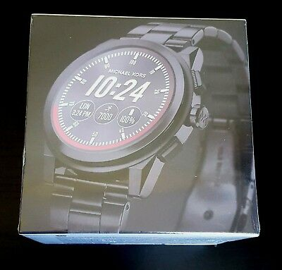 ed19baba3ea7 NWT Michael Kors Access Grayson Black Smartwatch MKT5029 FACTORY SEALED  350