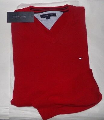 NWT MENS Tommy Hilfiger L/S Sweater ~RED~SZ MED