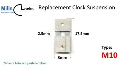 Brass French Clock Pendulum Suspension Spring. (16mm x 2mm x 10mm)  (Type Q7)