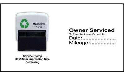 Garage Mechanics Rubber Stamp Not Manual Self Inking Excellent Service /& History