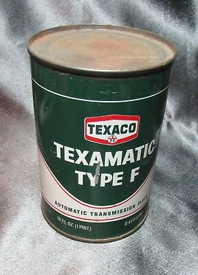 Vintage Texaco Texamatic Type F  Fluid Can  - UNOPENED -NOS