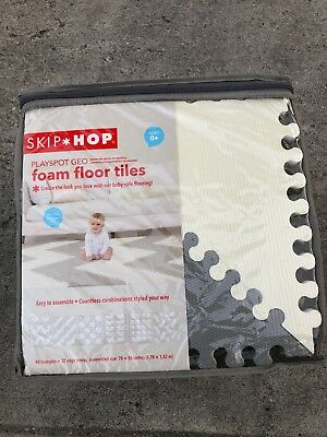 "Skip Hop Playspot Foam Play Mat For Baby, Grey/Cream, 70"" X 56"""