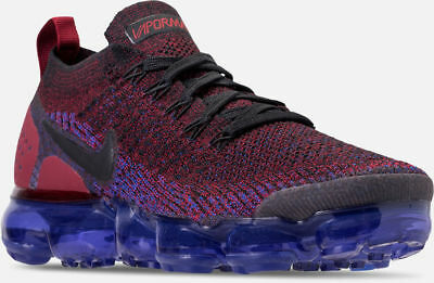 Nike Air Vapormax Flyknit 2 Running Shoes Black / Blue / Red Sz 11 942842 006