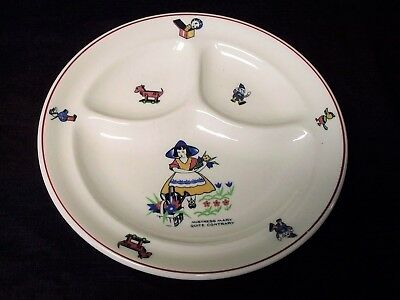 Shenango China Nursery Rhyme Mistress Mary Child's Restaurant Ware Divided Plate