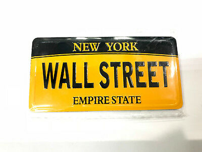 NEW YORK Wall Street Empire State license plate mini magnet