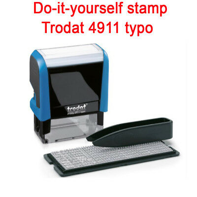 Diy Rubber Stamp Trodat Printy 4911 Typo  Self Inking Do It Yourself Stamp