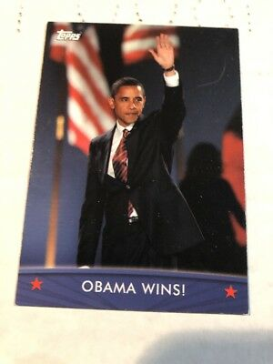 2008 Topps President Collector Trading Cards #64 Obama Wins! Non-Sports Card 1t6