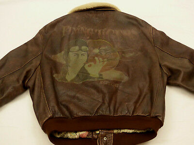 8021bd8ad69 Redskins Flyer Pilot s A2 Leather Jacket Flying Tigers Air Force SIZE  XL