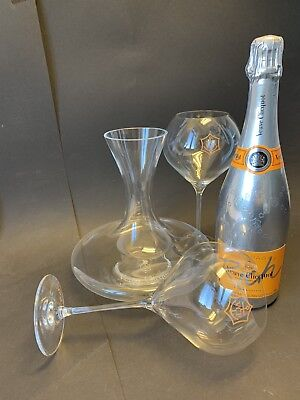 Veuve Clicquot 'Rich' Champagner 0,75l 12% Vol + 2 Rich Glas Gläser + Decanter