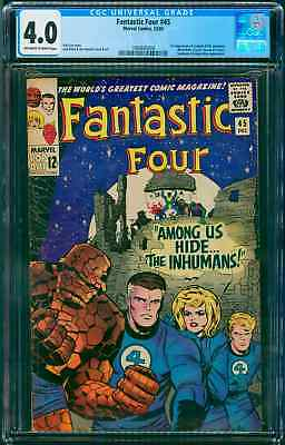 Fantastic Four #45 CGC 4.0 VG  1st App. The Inhumans and Black Bolt - KEY ISSUE
