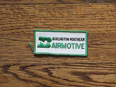 burlington northern airmotive,vintage patch new old stock, 60's,