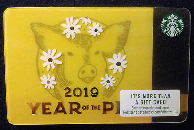 New Starbucks Chinese New Year Gift Card Year of Pig Boar