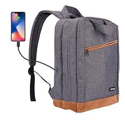 Laptop Backpack,Business Anti Theft Slim Durable Laptops Backpack w/ USB Port,