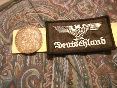 Third Reich Goetz Medal,Madonna and child  Reproduction Medal Token & Deut Patch
