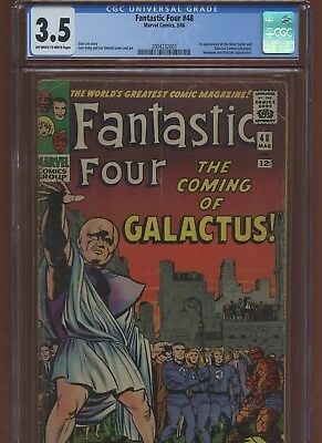Fantastic Four 48 CGC 3.5 | 1966 | 1st Silver Surfer & Galactus Last Page Cameo.