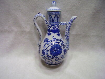 QianLong Mark 18th C Qing Dynasty Chinese Blue~White Porcelain Teapot Authentic