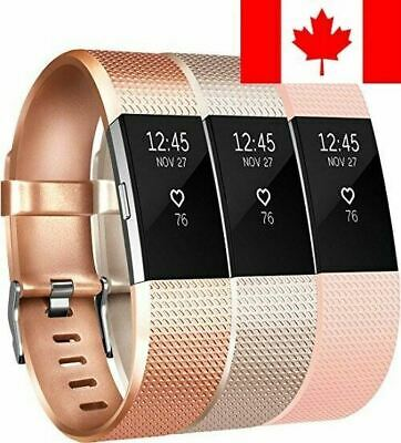 For Fitbit Charge 2 Bands (3 PACK), Vancle Replacement Wristbands Soft Comfor...
